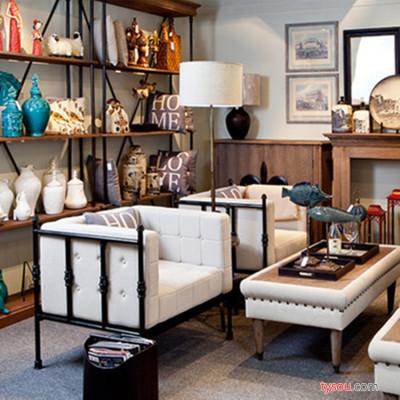 直销懒人沙发组合 欧式铁艺客厅沙发卡座 简易时尚办公沙发椅