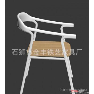 直销休闲复古铁艺餐椅 创意时尚设计师椅 家用休闲靠背椅