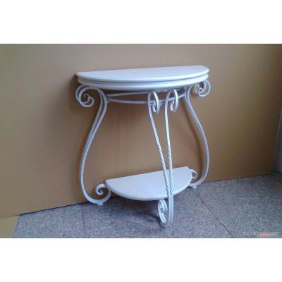 欧式 铁艺玄关桌  时尚茶几 门厅半圆桌 实木桌 墙角桌定做