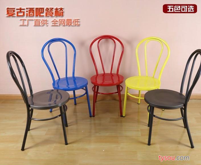 金丰铁艺休闲靠背铁艺椅子吧台椅居家餐厅椅零售铁艺椅子颜色定制
