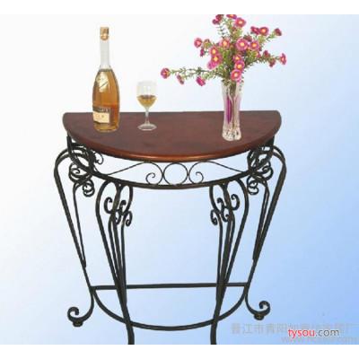 2015新款供桌欧式案台半圆桌靠墙边桌茶几边角几铁艺实木