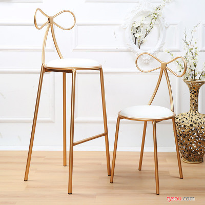 铁艺吧台椅吧椅创意吧凳吧台凳高脚凳简约休闲餐椅餐厅椅子