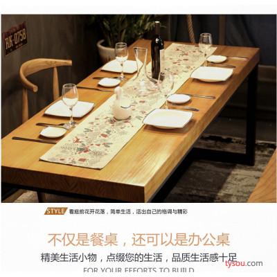 铁艺实木餐桌椅组合直销会议桌洽谈桌饮料店家用餐桌定做