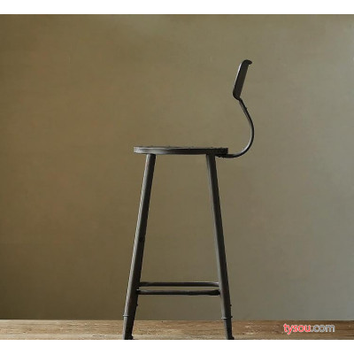 铁艺酒吧桌椅咖啡厅奶茶店桌椅复古实木吧台桌椅阳台圆桌茶几组合