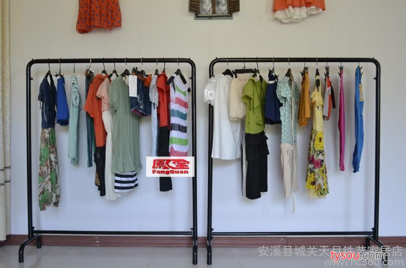 直销服装店简易服装架 展示中岛铁艺挂衣架 福建安溪天月铁艺