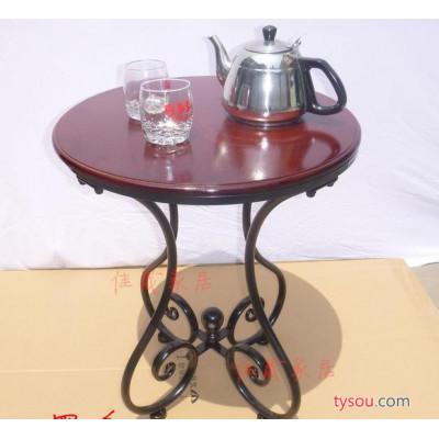 欧式铁艺咖啡小圆桌客厅电话沙发卧室阳台小桌子田园简约白色茶几