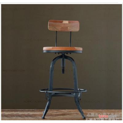 美式铁艺吧台升降桌椅吧台组合休闲桌椅酒吧咖啡厅小圆桌椅