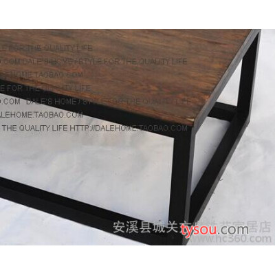 方舟铁艺 LOFT复古风格做旧茶几 时尚创意实木做旧茶几 厂家直销
