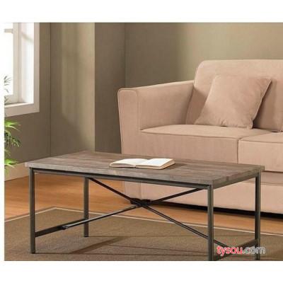代理加盟铁艺美式茶几实木家具LOFT风格复古做旧简咖啡桌吧台桌
