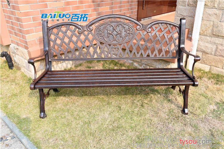 铸铝公园椅长椅茶几户外休闲长椅铁艺工厂直销