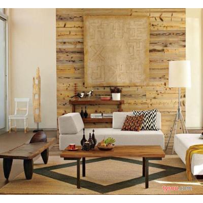 特价美式乡村家具铁艺 复古式做旧实木茶几  法式桌子简洁定做