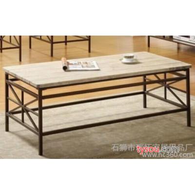 定制   美式乡村古坊工业风格 铁艺做旧茶几实木桌子角几长方桌子