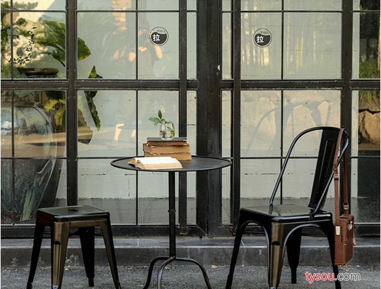 美式乡村铁艺茶几做旧复古边几沙发边几电话架多功能圆形茶几茶台