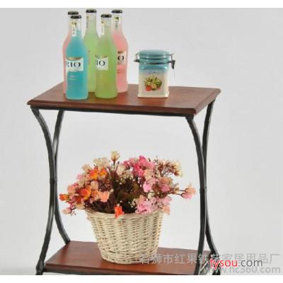 创意杂志架,长方形桌,木板茶几,铁艺双层木板茶几长方形桌 创意杂