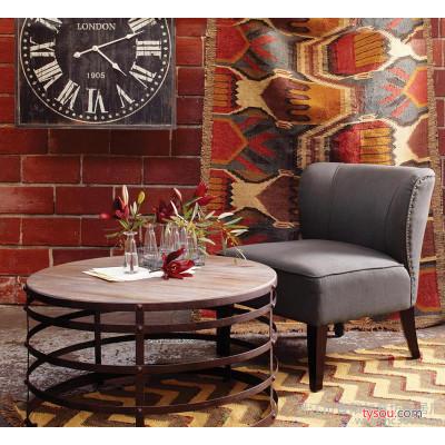 定做 欧式茶几 复古客厅小桌子 铁艺做旧创意茶几茶桌