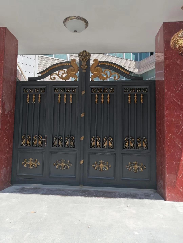 福州庭院别墅铝艺电动门