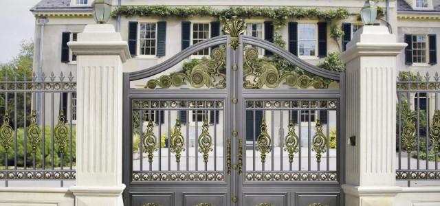 铝艺庭院大门与铁艺庭院大门比较有哪些优势