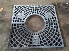 长春 通力铁艺马路 井盖 实拍 铸铁件